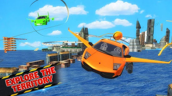Futuristic Flying Car Ultimate - Aim and Fire- screenshot thumbnail