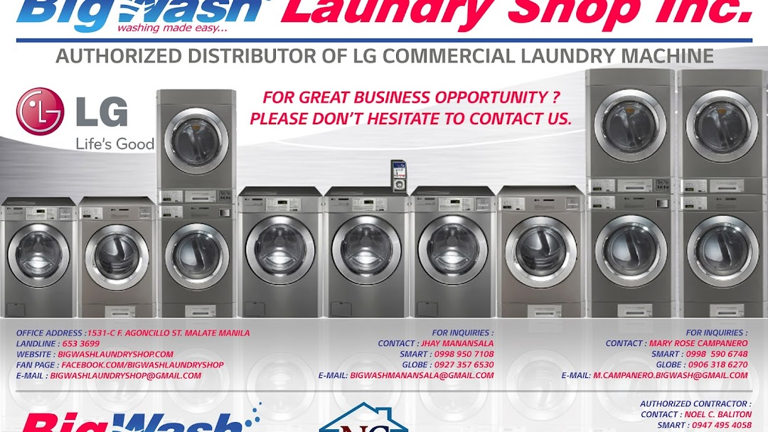 Bigwash Laundry Shop Inc  - Storage Facility in Manila