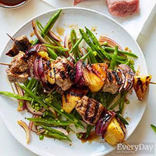 Teriyaki Pork & Pineapple Kebabs.