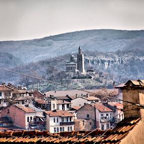Veliko Tarnovo-Bulgaria by Stoyan Katinov - Buildings & Architecture Statues & Monuments ( veliko, tzaravetz, monument, road, tarnovo, wall, bulgaria )