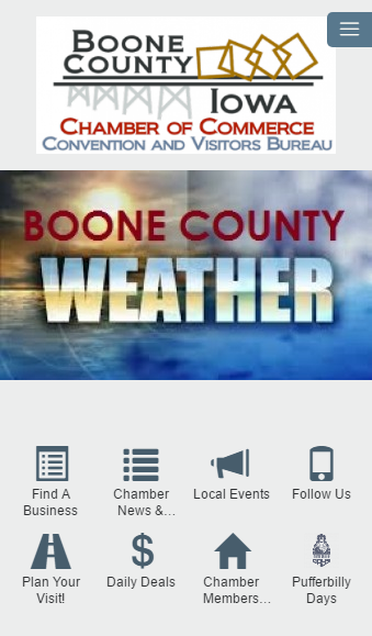 Boone Chamber of Commerce- screenshot