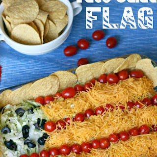 Easy Taco Salad Flag.