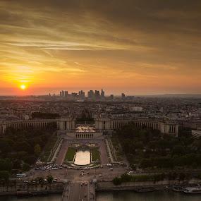 Parisian sunset by Carol Henson - Landscapes Sunsets & Sunrises ( paris, eiffel tower, 7d, may 14, sunset,  )
