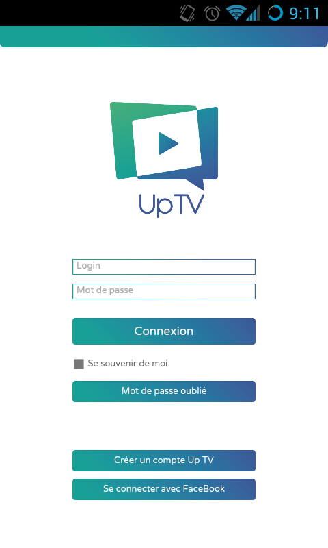 UpTV – Capture d'écran