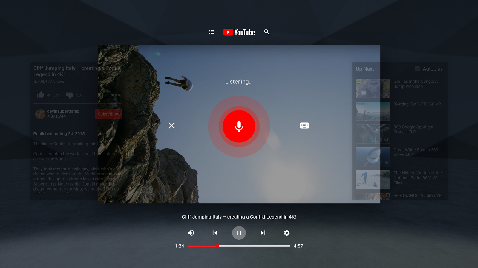 YouTube VR- screenshot