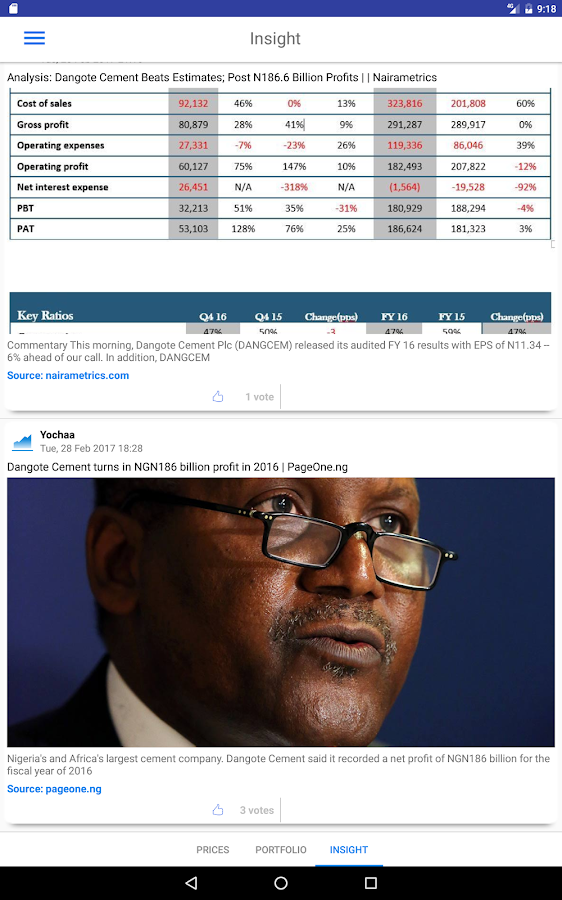 Yochaa - Nigerian Stocks- screenshot