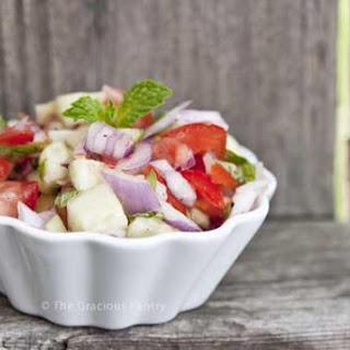 Clean Eating Shirazi Salad.