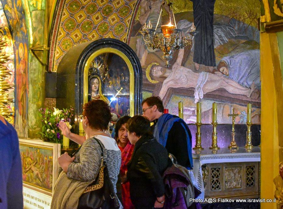 Экскурсия в Иерусалиме. Голгофа. 13 станция-стояние Виа Долороза.