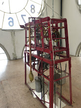 Photo: View of the clock mechanism