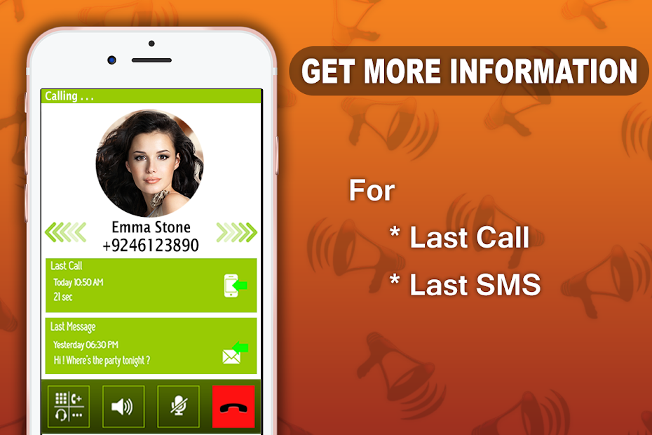 Z's Caller Name Announcer Android App Screenshot