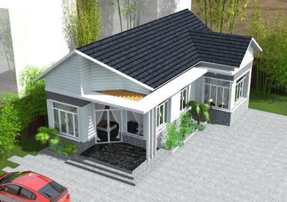 Các mẫu thiết kế nhà cấp 4 mái tôn