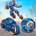 Ball Robot Transform Bike War : Robot Games icon