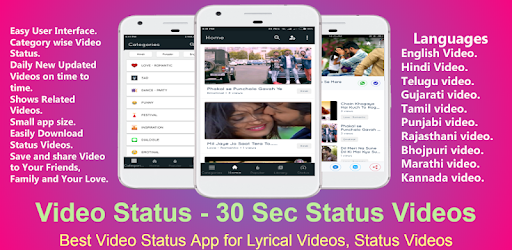 Video Status - 30 Sec Status Videos 2019 – Apps on Google Play