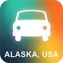 Alaska, USA GPS Navigation icon