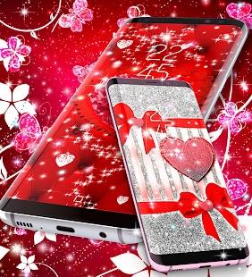 Red sparkling live wallpaper - náhled