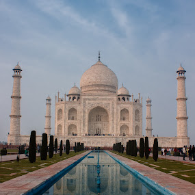 Taj Mahal by Shashank Ramesh - Travel Locations Landmarks ( reflection, marble, tomb, pwclandmarks, taj mahal, white, wonder, agra, india, architecture, garden, delhi )