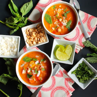 Thai Butternut Squash and Chicken Soup