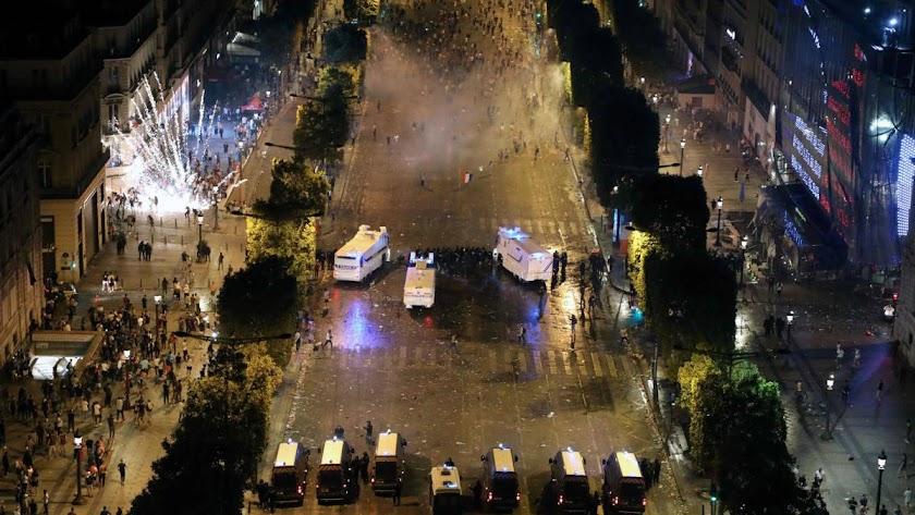 La fiesta no acabó bien en Francia
