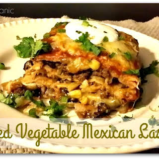 Roasted Vegetable Mexican Lasagna.