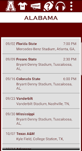Alabama Football Schedule- screenshot thumbnail