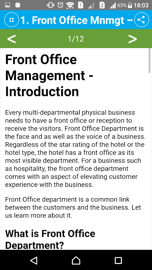 Learn Front Office Management- screenshot
