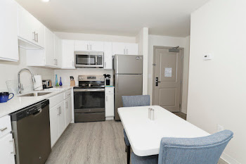 Go to One Bed, One Bath Furnished with Balcony Floorplan page.