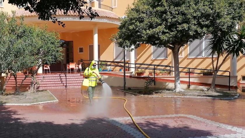 Desinfección en el municipio de Adra.