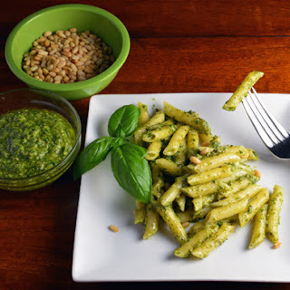 Spinach and Basil Pesto Pasta Genovese