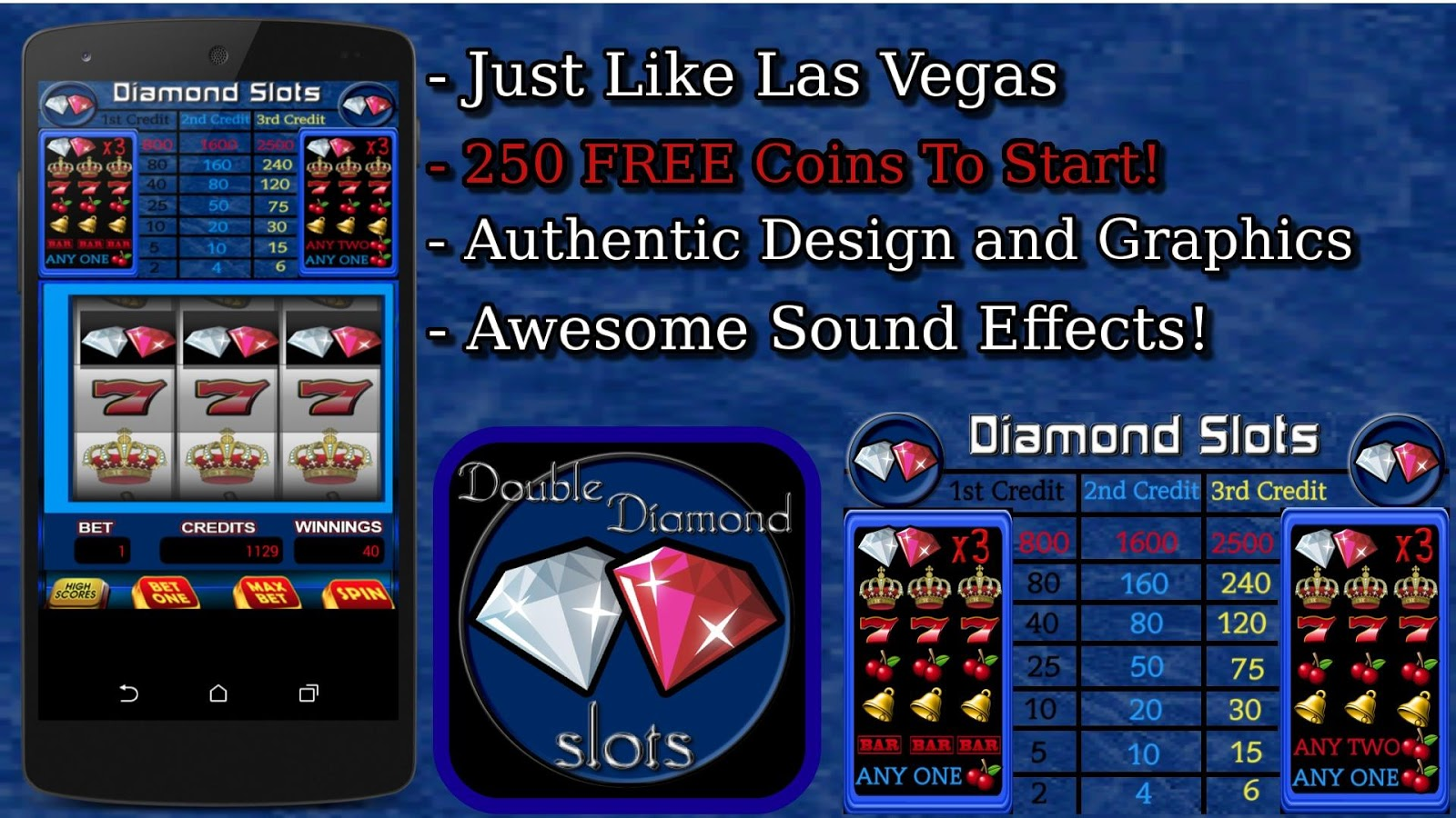 free classic double diamond slots