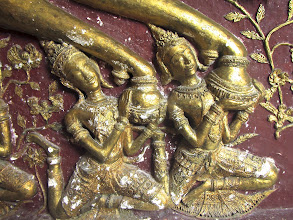Photo: celestial beings supporting the hooves of the horse that brought Prince Siddhatha on his spiritual quest