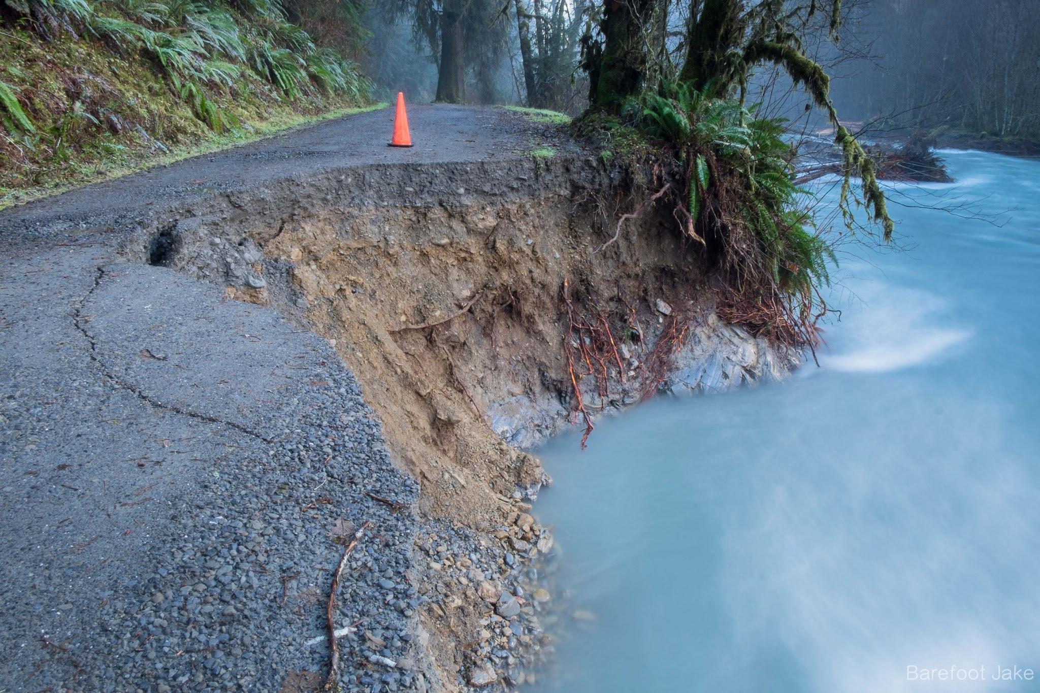 Graves Creek Road damage