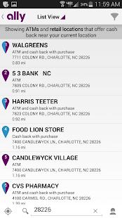 Ally's ATM & Cash Locator - screenshot thumbnail