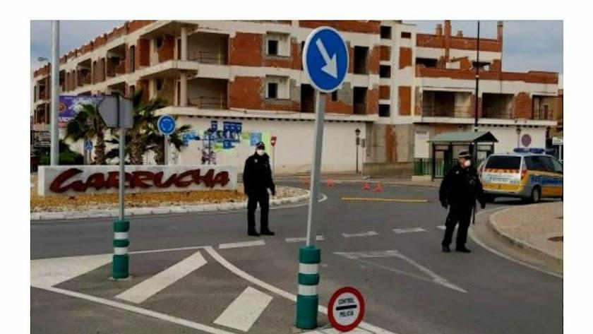 Policía local de Garrucha, en una imagen de archivo.