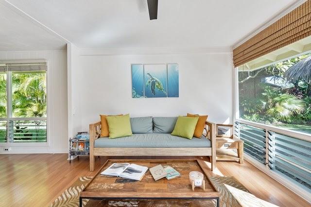 An open floor living room