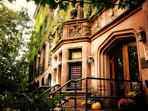 """Photo: """"Urban fairytales...""""  New York Photography. Friends Seminary. Stuyvesant Square, New York City.  I am still coping with my injured leg (it's been almost a month now). The healing process is very slow and I had a few more x-rays taken last week to determine how my healing was going. Thankfully, the results were positive but I was told I am only half way through the healing process and that I need 8 weeks of physical therapy to get my range of motion back in my left leg. The actual injury ended up being a mild tibial plateau fracture which people are usually advised to keep off of for at least 6 weeks. However, it wasn't caught on the initial x-rays and since my doctor thought it was a torn knee ligament, he advised me to walk around. He was in shock that I wasn't in excruciating pain and that my leg bones are in place. We were both thankful that I seem to have great bones! However, it's been hard to not be as active as I usually am. I have to budget my time each week since going out and walking around for even an hour is exhausting since my leg doesn't move properly (due to scar tissue which is going to be worked out in physical therapy). I am just thankful that it didn't end up being worse!  Due to my current physical status, I have had a lot of time to go through last year's photos that I took around autumn and Halloween. It's always great to re-visit work periodically (and re-edit said work). This photo was taken around that time. It's of one of my favorite older buildings in this area of Manhattan. The building is called the Friends Seminary and it has a really interesting history:  """"Friends Seminary, established by members of the Religious Society of Friends (members are known as Quakers), was founded in 1786 as Friends' Institute through a $10,000 bequest of Robert Murray (merchant). Friends' Institute was located on Pearl Street in Manhattan and strived to provide Quaker children with a """"guarded education."""" In 1826, the school was moved to a larger cam"""