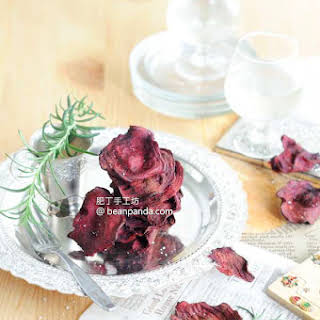 Baked Beet Chips.
