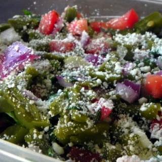 Cactus Salad / Ensalada De Nopales Recipe