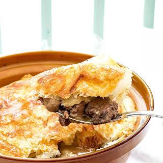 Venison And Mushroom Pot Pie.