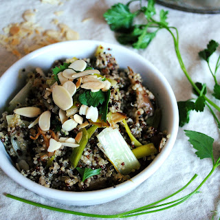 Mushroom and Leek Quinoa