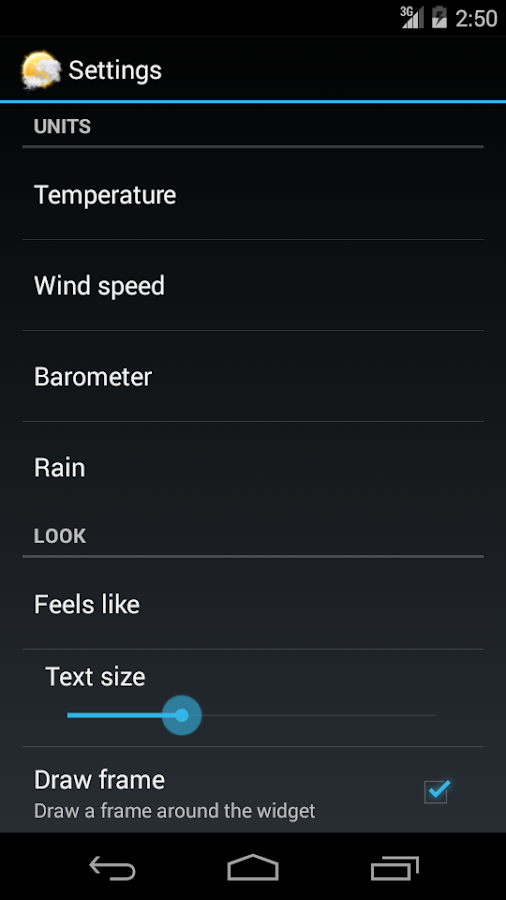 Weather Personal Widget- screenshot