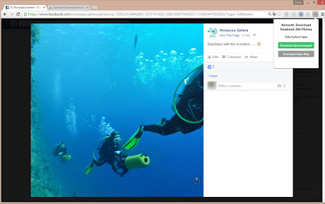 Azimuth: Download Facebook 360° Photos/Videos Chrome插件下载crx 扩展