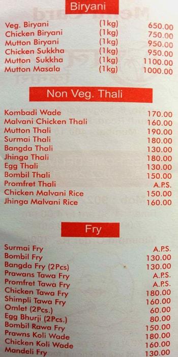 Malvani Kinara menu 5