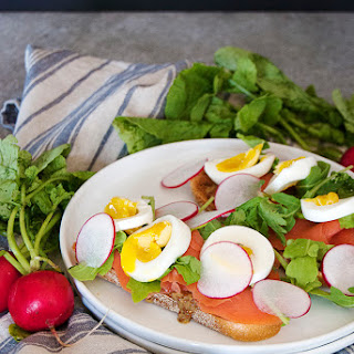Egg and Cured Salmon Sandwiches.