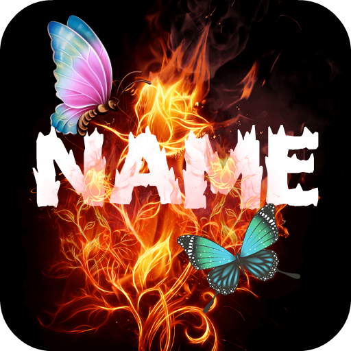 Fire Effect Name Art Maker Icon