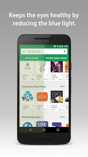 Blue Light Filter Pro app for Android screenshot