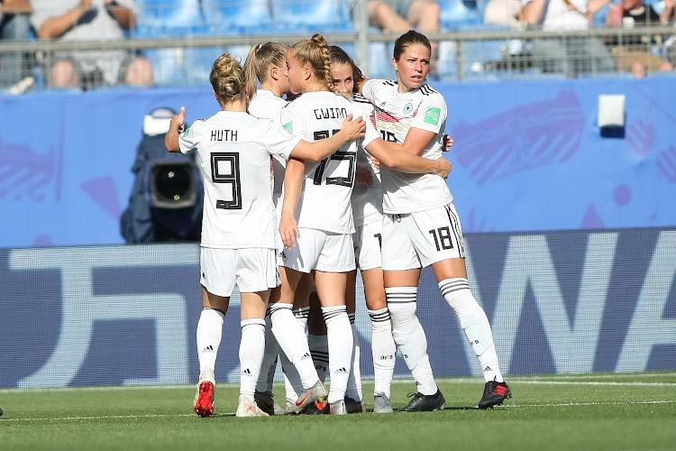 Duitsland kinderlijk gemakkelijk voorbij Nigeria naar kwartfinales
