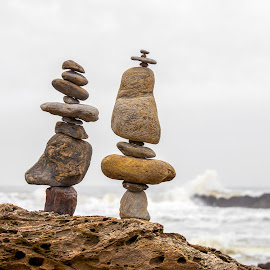 Stone Pile (by rqserra)  by Rqserra Henrique - Artistic Objects Other Objects ( art, primitive, stonepile, pile, sculpture, fineart, stone, balancing, minimal, balance, rocks, contemporary, beach )