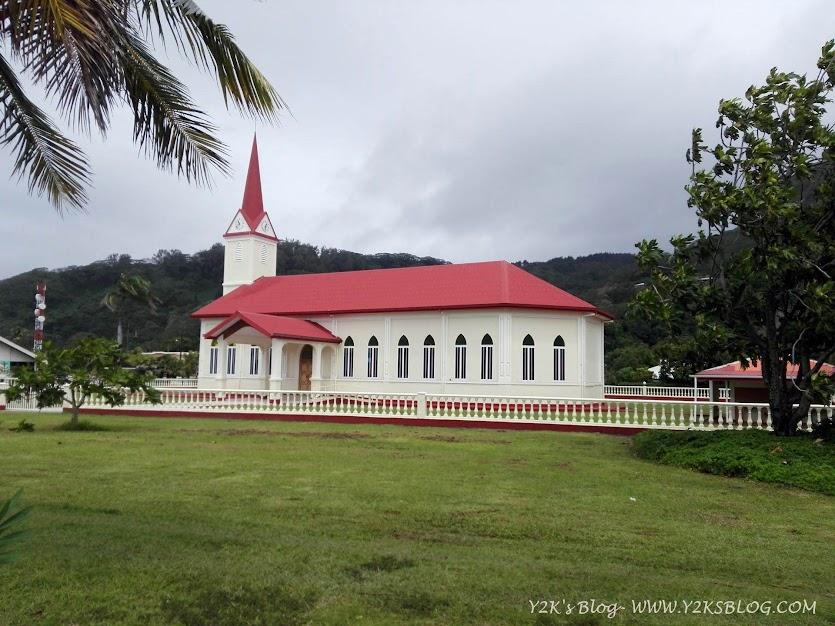 La chiesa di Uturoa - Raiatea