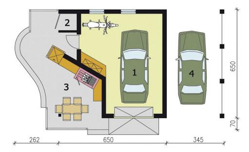 G191 - Rzut garażu