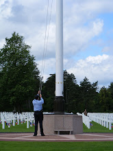 Photo: One of the Battlefield Commission employees completes this raising.